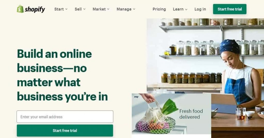 Best Website Builder Shopify